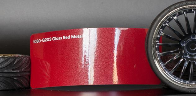 3M 1080-G203 Metallic Gloss Red Vinyl