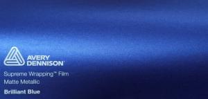 Avery Matte Metallic Brilliant Blue
