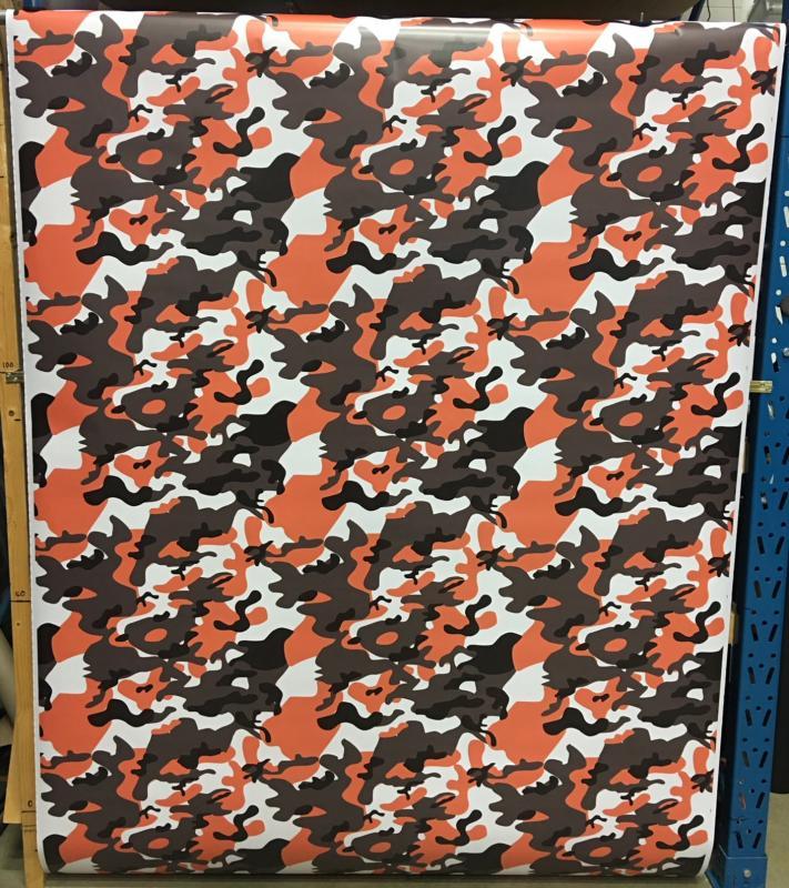 VN Wrap - Tiger Orange Camo vinyl