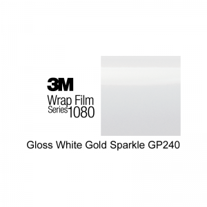 3M 1080-GP240 Gloss White Gold Sparkle Vinyl