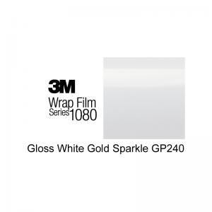 3M 1080-GP240 Gloss White Gold Sparkle Vinyl