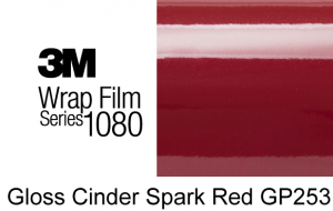 3M 1080-GP253 Gloss Cinder Spark Red Vinyl