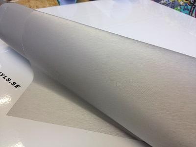 borstad aluminium folie
