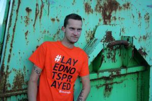 Powered by VN Vinyls, #LAYEDNOTSPRAYED T-Shirt Orange