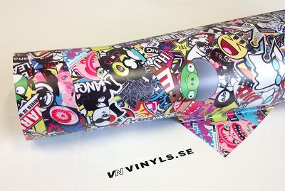 VN WRAP - STICKERBOMB VINYL MODELL 6