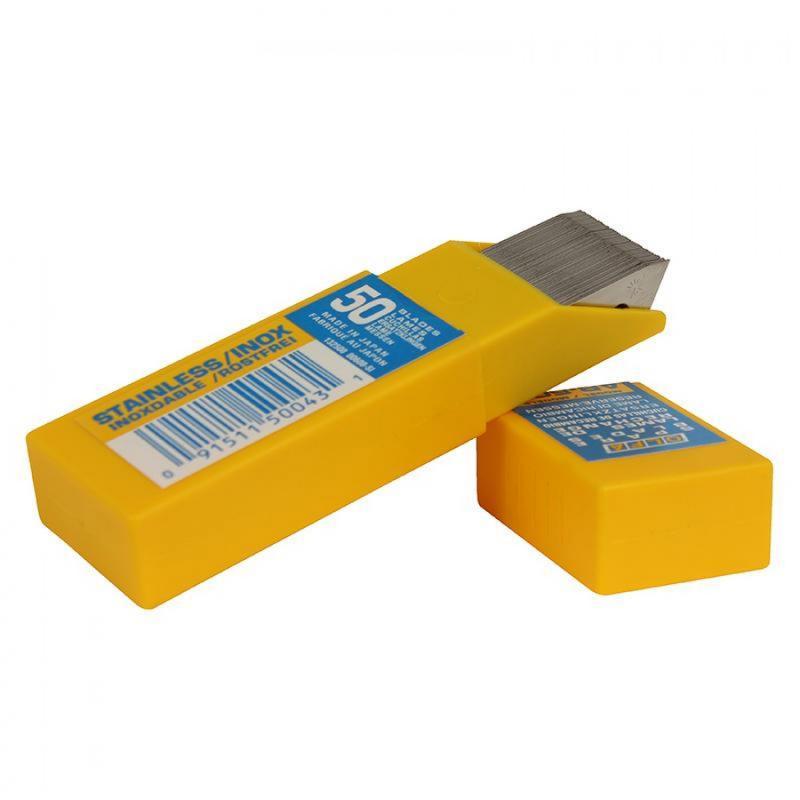 OLFA® Rostfria 45° knivblad - 50-pack