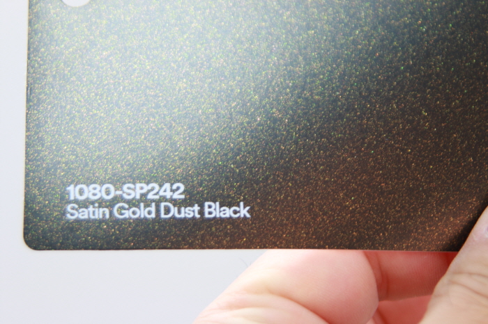 3M 1080-SP242 Satin Gold Dust Black Vinyl