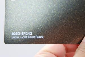 3M 1080-SP242 Satin Gold Dust Black Vinyl