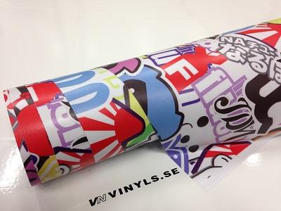 VN WRAP - STICKERBOMB VINYL MODELL 1