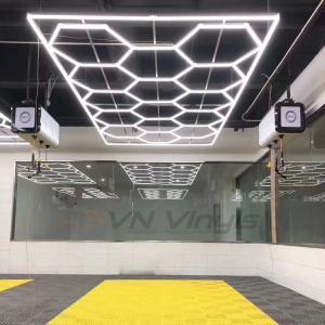 VN Vinyls Hexagon LED Garagebelysning