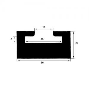 Slides, svart 141 cm