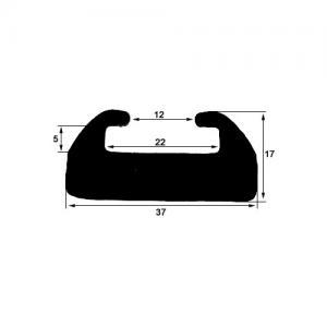 Slides, svart 131 cm