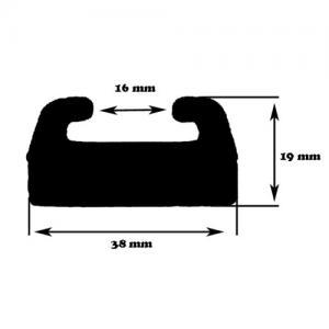 Slides, svart , 140 cm