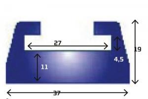 Slides, svart , 178 cm