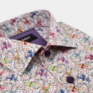 Printad Dahlinskjorta rosa
