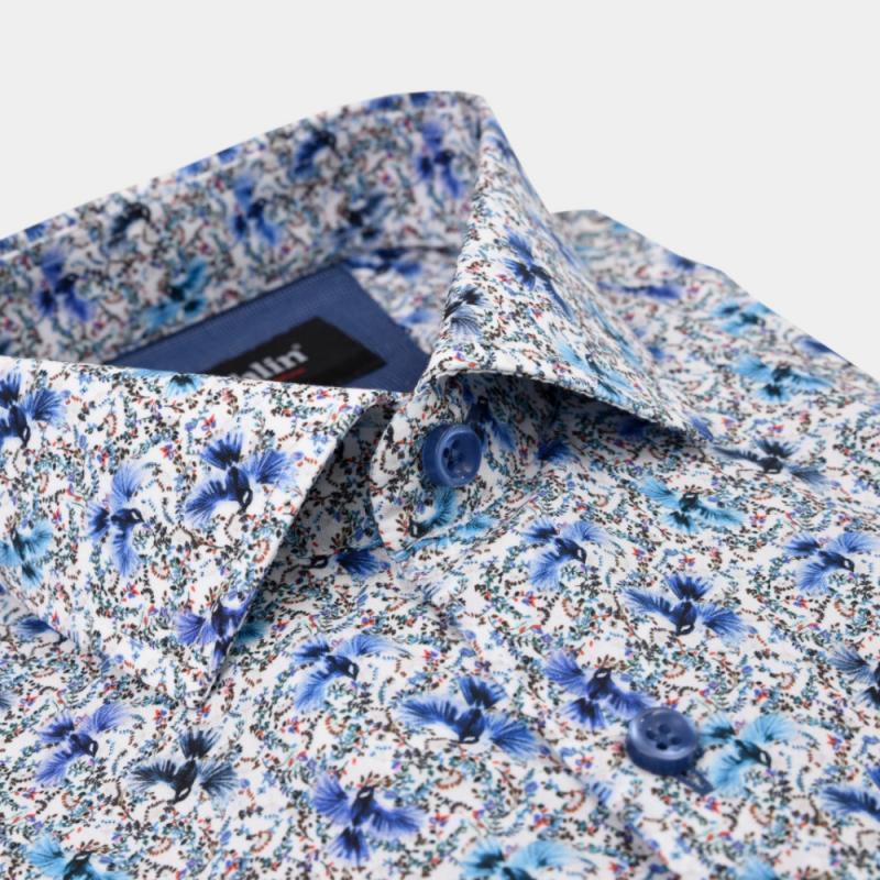 Printad Dahlinskjorta blå