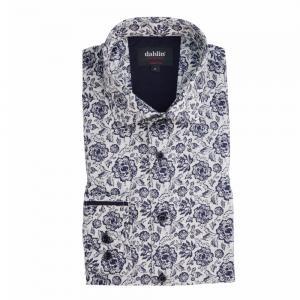 Dahlinskjorta med blomprint
