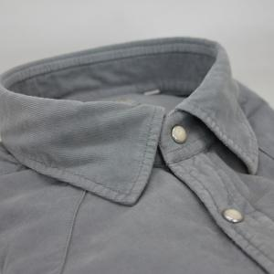 Manchesterskjorta ljus grå/blå