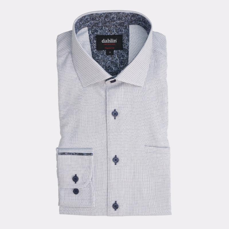 Microrutig skjorta