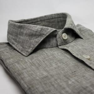 Linneskjorta grå/dimgrön