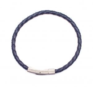 Flätat armband blå