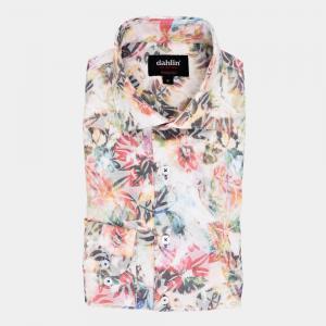 Vit multifärgad skjorta