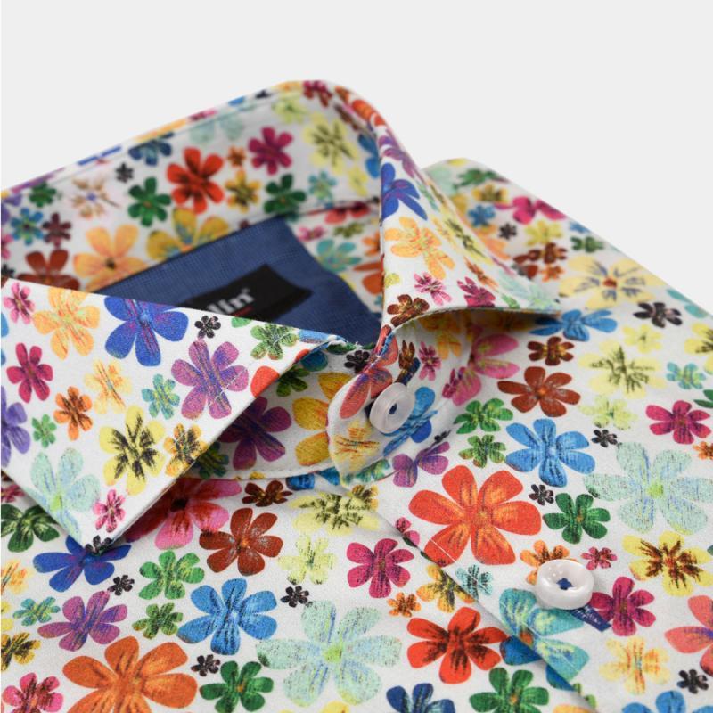 Skjorta med blomprint