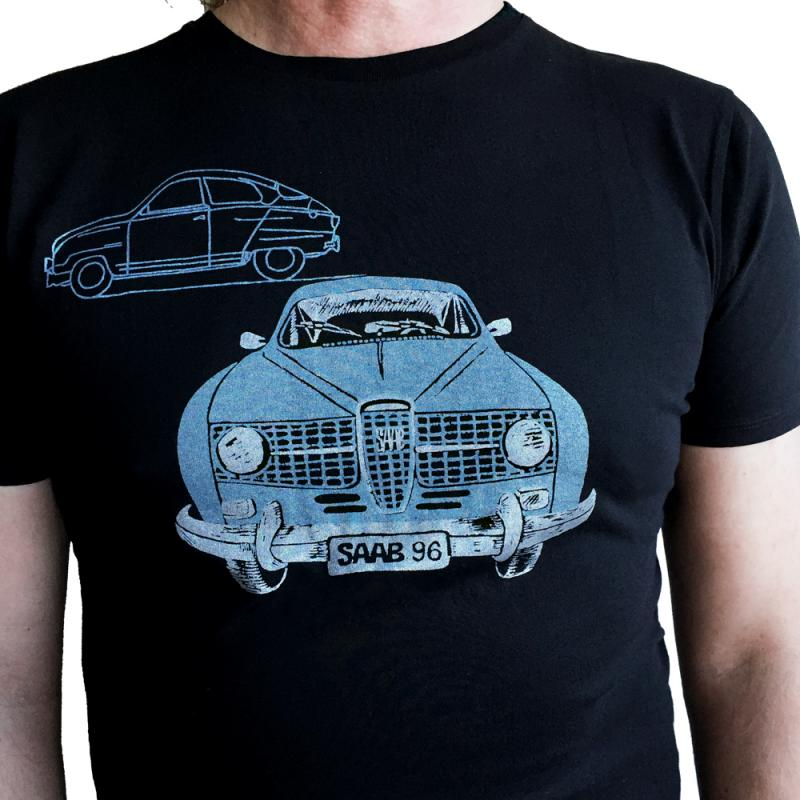 T-shirt med Saab96 print