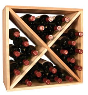 24 Bottle Wine Storage Cube