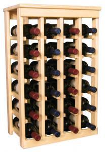 24 flaskors vinställ med solid tophylla