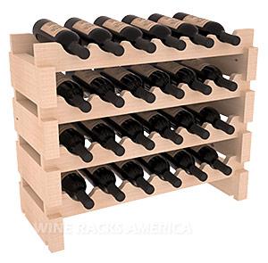Mini-vinställ för 24 flaskor med rundade lagringsplatser