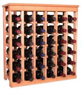 36 flaskors vinställ med solid tophylla
