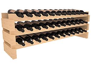 Vinställ för 36 flaskor med rundade lagringsplatser