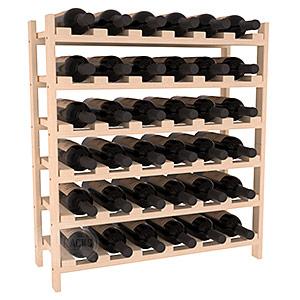 Staplingsbart vinställ för 36 flaskor