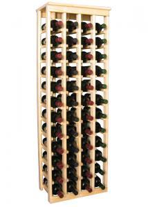 48 flaskors vinställ med solid tophylla
