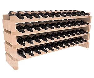 Vinställ för 48 flaskor med rundade lagringsplatser