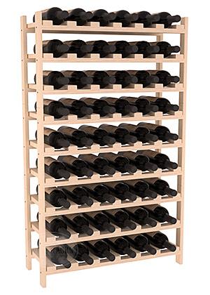 Staplingsbart vinställ för 54 flaskor