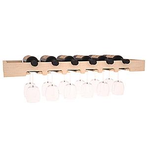 Hylla i trä för 6 flaskor och 12 glas med 88,6 cm bredd