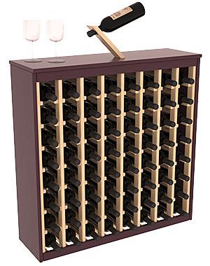 64 flaskors tvåfärgat Deluxe vinställ (Burg.röd/Nat)