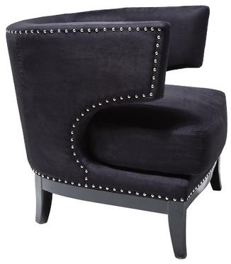 Fåtölj Art Deco svart