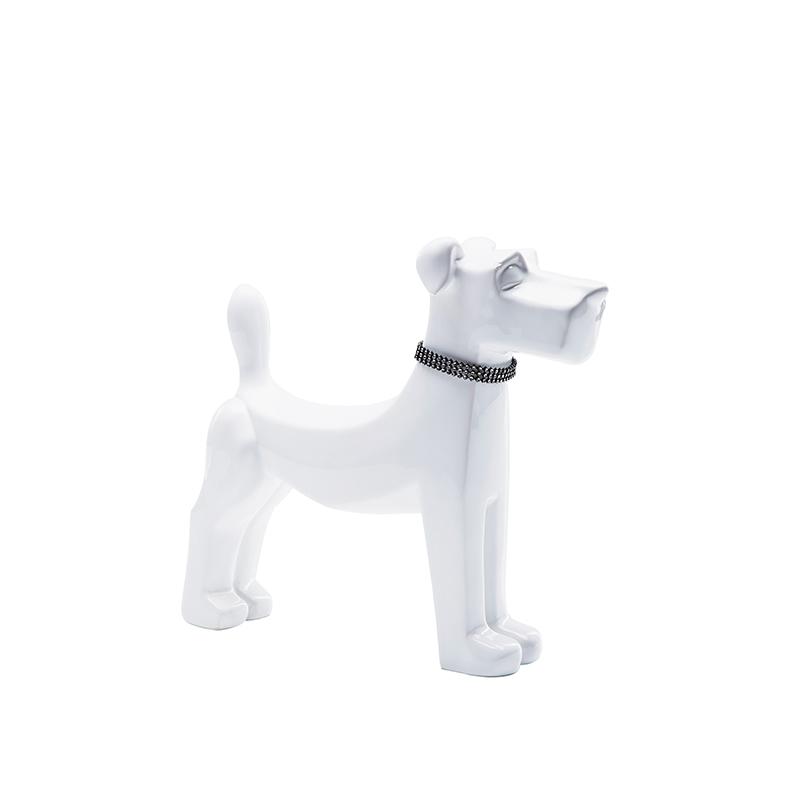 Dekorfigur White Dog