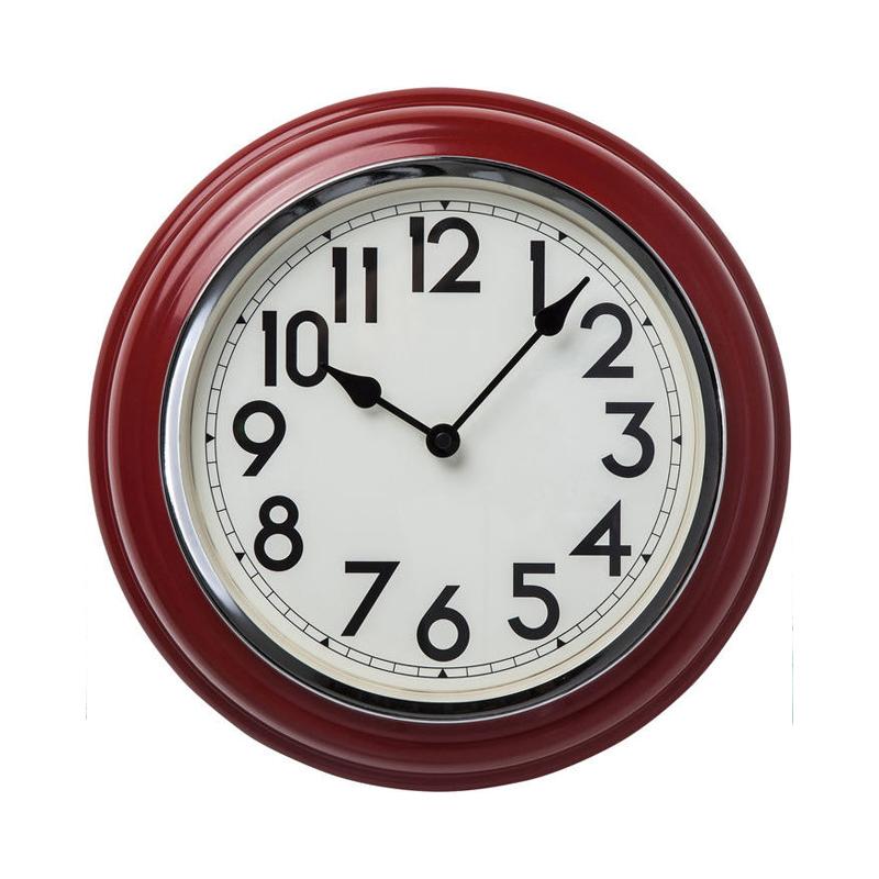 Klocka Cafeteria Röd