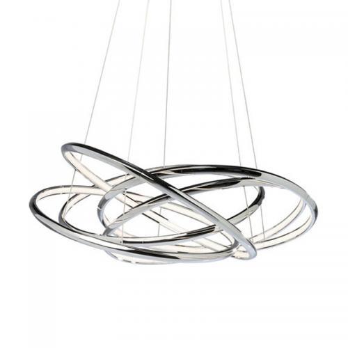 Taklampa Pendel Rings Silver LED