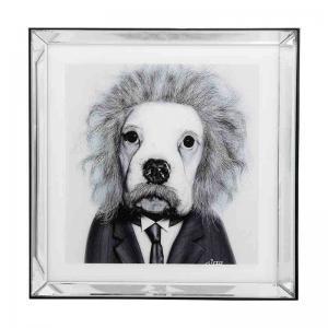 Tavla Mr Smart, spegelram 60x60 cm