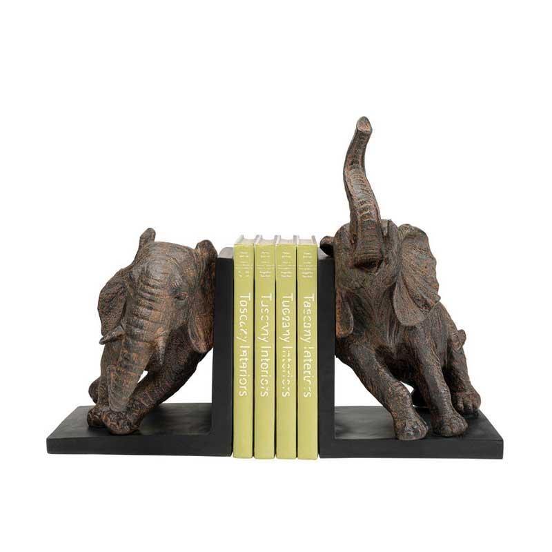 Bokstöd Elefanter