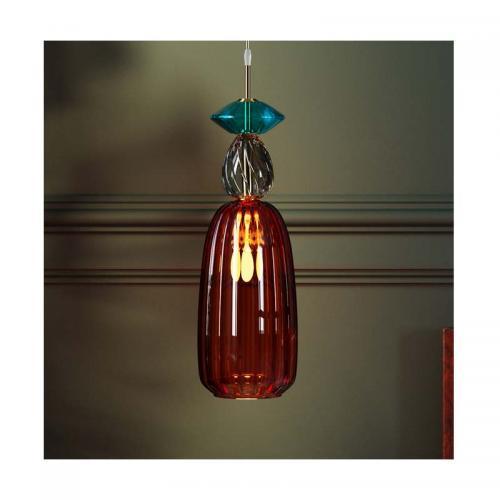 Pendel Taklampa Goblet Glas, Röd