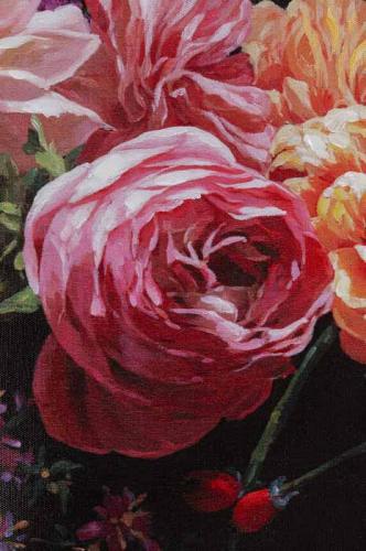 Tavla Blomster, Canvas 120x90 cm