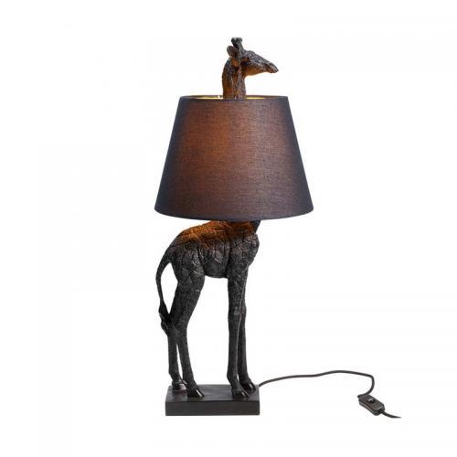 Bordslampa Giraff, matt svart