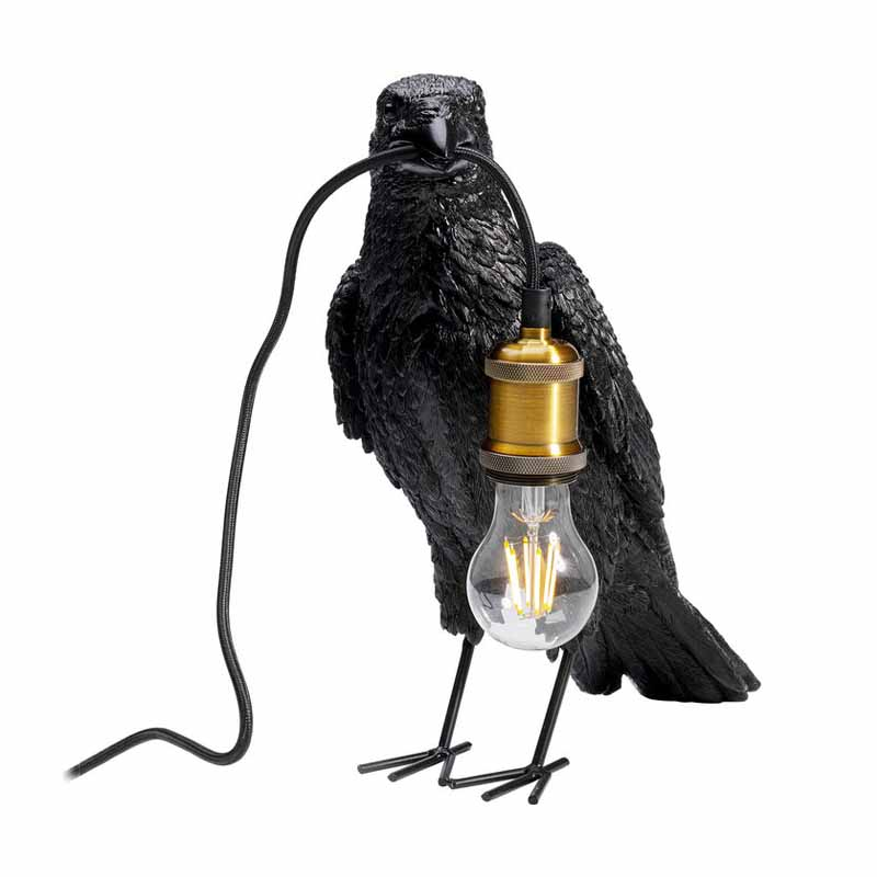 Bordslampa Kråka, Svart