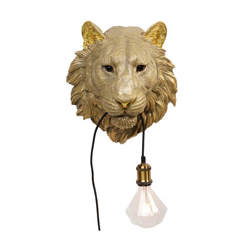 Vägglampa Tiger Guld